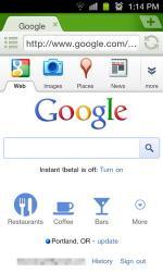 Google, мобильная версия, страница поиска, обновление