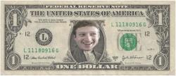 Марк Цукерберг, Facebook, зарплата