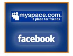 MySpace и  Facebook