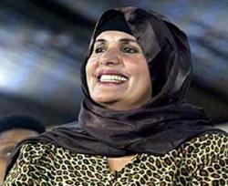 Жена Каддафи