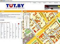 TUT.BY, MAPS.TUT.BY,  Брестская область, Минская область