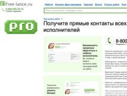 Рунет, Free-lance.ru, функционал, обмен контактами